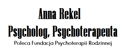 Poradnia psychologiczna Anna Rekel